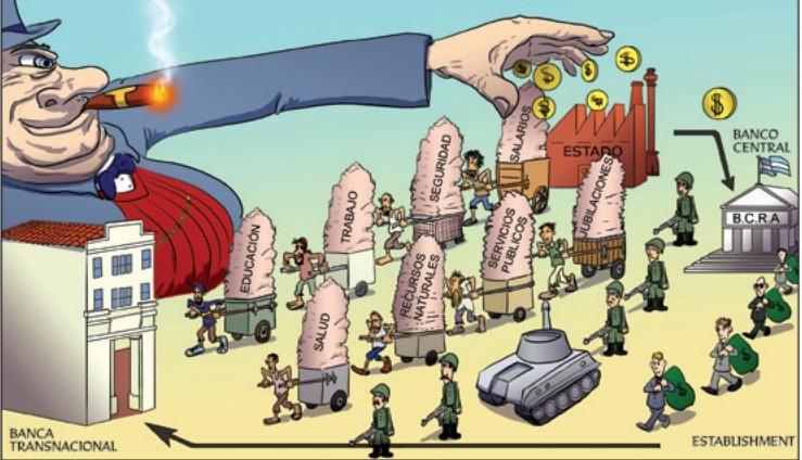¡BASTA DE PAGAR LA DEUDA! ¡FUERA EL FMI!