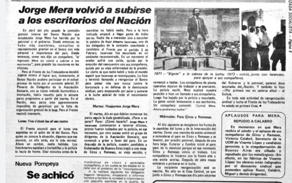 FALLECIÓ JORGE MERA, UNO DE LOS DIRIGENTES MAS IMPORTANTES DE LA HISTORIA DEL TROSKISMO ARGENTINO