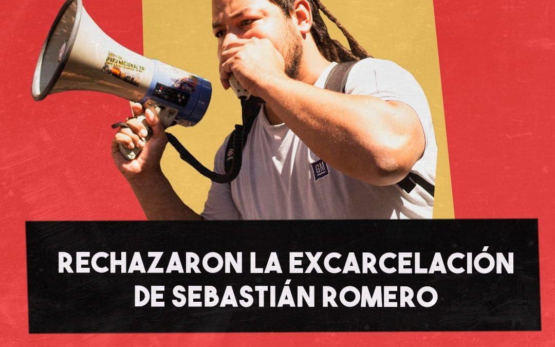 VUELVEN A NEGARLE LA EXCARCELACIÓN A SEBASTIÁN ROMERO